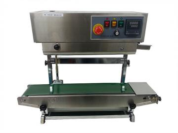 FR-900V Vertical Heat Sealing Machine, Bag Sealer, and Pouch Sealer.